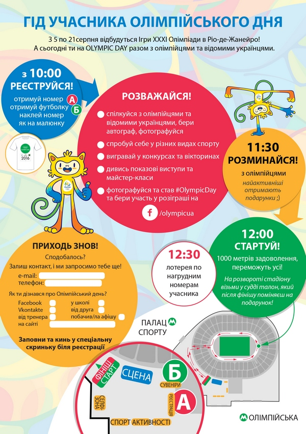 2016 Olympic Day Ukraine guide