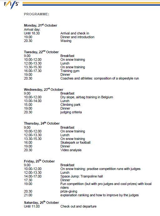 FIS Camp program